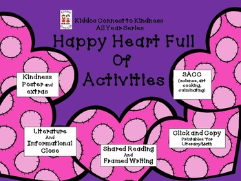 Kindness-Happy Heart Full of Activities - Kiddos Connect All-Year to Kindness