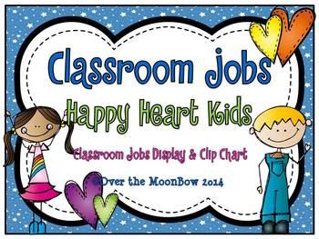 Happy Heart Kids Helpers - Classroom Jobs Display & Clip Chart