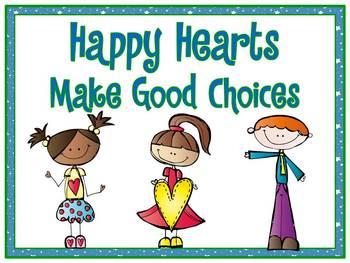 Happy Heart Kids Themed Behavior Clip Chart