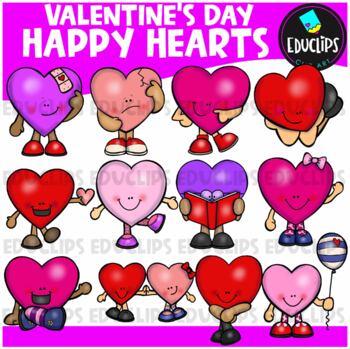 Happy Hearts Clip Art Bundle {Educlips Clipart}