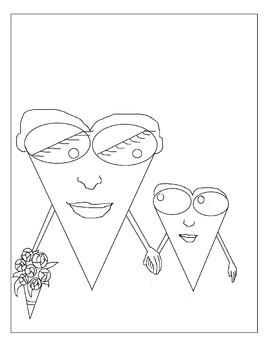 Happy Hearts Coloring Sheet