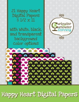 Happy Hearts Digital Paper