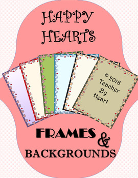 Happy Hearts Frames & Backgrounds Clip Art