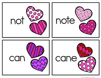 Valentine's Day Write the Room FREEBIE | CVC CVCe Words