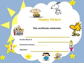 Happy Helper Certificate