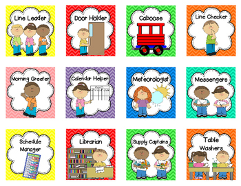 This is a photo of Monster Free Printable Preschool Job Chart Pictures