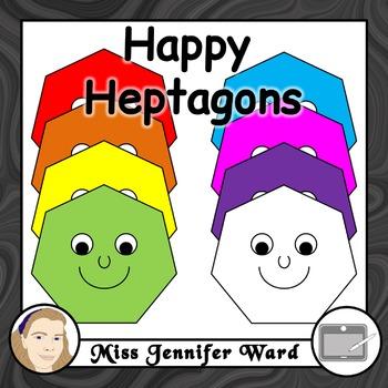 Happy Heptagons Clipart