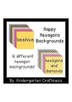 Happy Hexagons Backgrounds