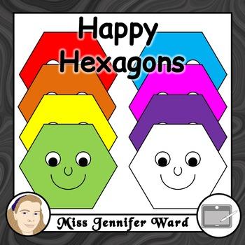 Happy Hexagons Clipart