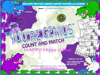 Happy Hippo Learning Counting, Matching, and Coloring Game