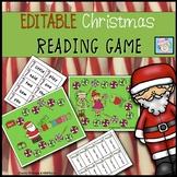 Christmas Sight Word Board Game EDITABLE!