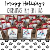 Happy Holiday Christmas Tree Finger Print Gift Tag FREEBIE