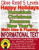 Happy Holidays Kwanzaa Christmas Hanukkah New Year CLOSE R