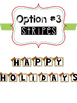 Happy Holiday Greeting Card Letters