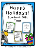 Happy Holidays! Student Gift Tags