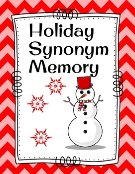 Happy Holiday Synonym Memory