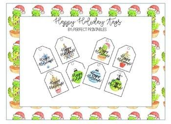 Happy Holiday Tags