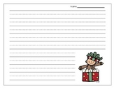 Happy Holiday Themed Writing Paper {FREEBIE}