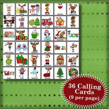 Happy Holidays 3x3 Bingo 30 Cards