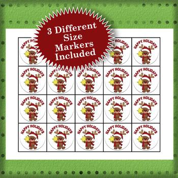 Happy Holidays 3x3 Bingo 60 Cards