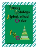 Happy Holidays Alphabetical Order
