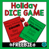 Happy Holidays BUNCO:  A Holiday Dice Game