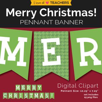Merry Christmas! Pennant Banner