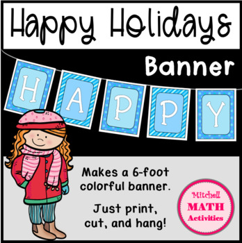 Happy Holidays Banner (Full-Color Version)