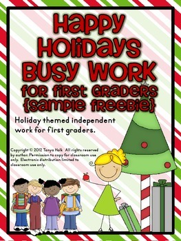 Happy Holidays Busy Work {FREEBIE}