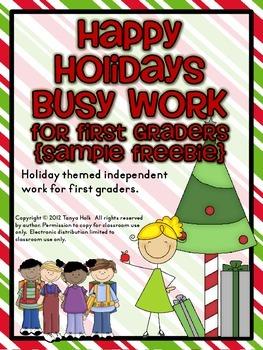 Happy Holidays Busy Work {FREEBIE}