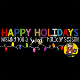 Happy Holidays Candy Bar Wrappers