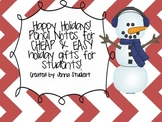 Happy Holidays Cheap and Easy Student Gift Idea