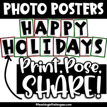 Happy Holidays Class Photo Op Posters Free