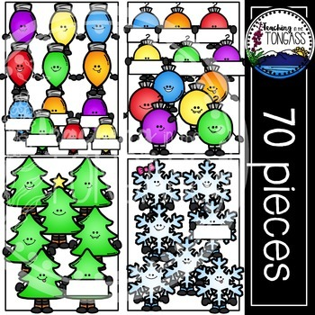 Happy Holidays Christmas Clipart Bundle