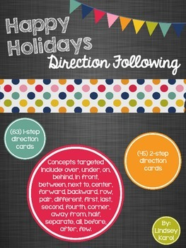 Happy Holidays Direction Following