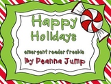 Happy Holidays Emergent Reader FREEBIE