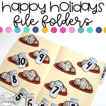 Happy Holidays File Folder Activities for Special Education