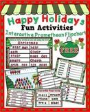 Happy Holidays Fun Interactive Activities ~ Promethean Flipchart - FREE