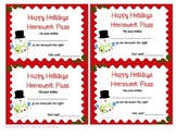 Happy Holidays Homework Passes