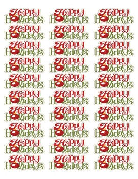 Happy Holidays Labels FREE! Microsoft Word File