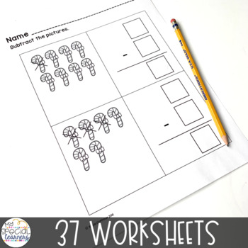 Happy Holidays Math Printables for Special Education
