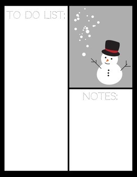 Happy Holidays, Merry Christmas Printables: notecards, to-do list, paper!