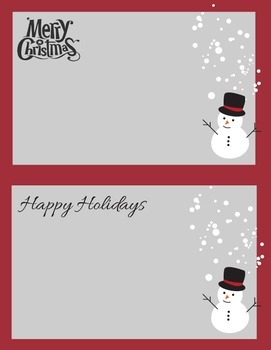 Happy Holidays, Merry Christmas Printables: notecards, to-