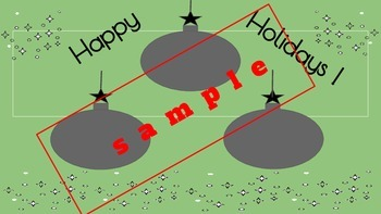 Happy Holidays Ornaments Template for Scribble Art/Patterns  Mess Free EZ
