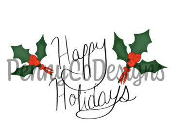Happy Holidays PNG file Clip art