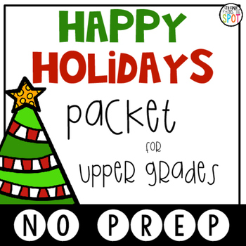 Happy Holidays Packet for Upper Grades