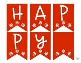 Happy Holidays Pennant