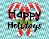 Happy Holidays Poster, Class Decor, Holiday Sign, Bulletin Board
