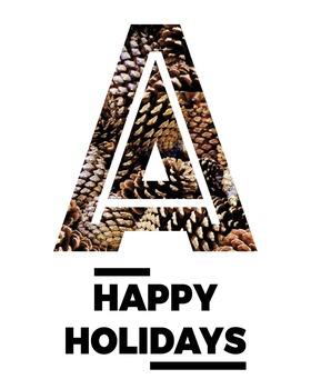 Happy Holidays Print Tutorial