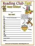 December Holidays Reading Log & Certificate
